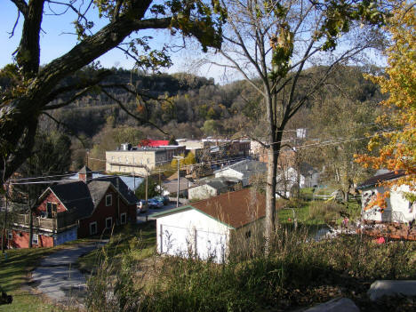 Birds eye view of Lanesboro from Church Hill, 2009