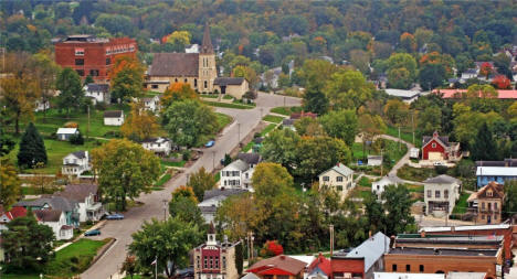 Birds eye view, Lanesboro Minnesota, 2008