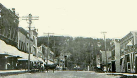 Main Street looking north, Lanesboro Minnesota, 1910's