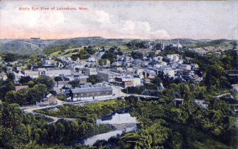 Birds eye view of Lanesboro Minnesota, 1909