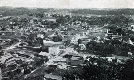 Birds eye view of Lanesboro Minnesota, 1907