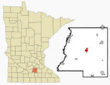 Location of Le Center, Minnesota