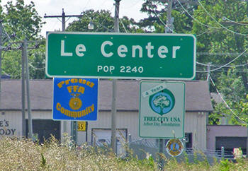 Welcome to Le Center Minnesota!