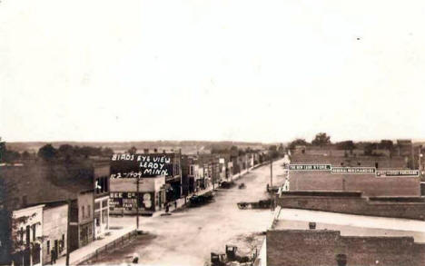 Birds eye view, Le Roy Minnesota, 1911