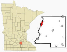 Location of Le Sueur, Minnesota