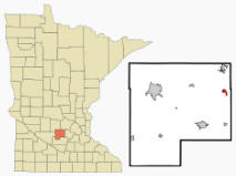 Location of Lester Prairie, Minnesota