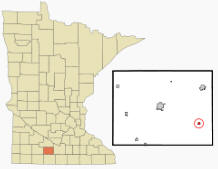 Location of Lewisville, Minnesota