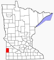 Location of Lincoln County Minnesota