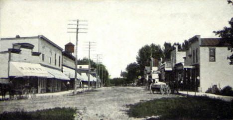 St. Croix Avenue looking north, Lindstrom Minnesota, 1910's