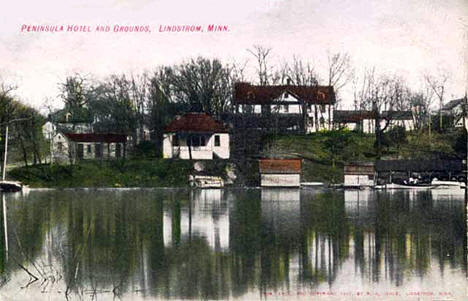 Peninsula Hotel and Grounds, Lindstrom Minnesota, 1905