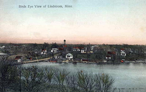 Bird's-eye view of Lindstrom Minnesota, 1908