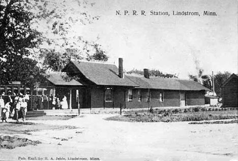 Northern Pacific Railroad Station, Lindstrom Minnesota, 1909