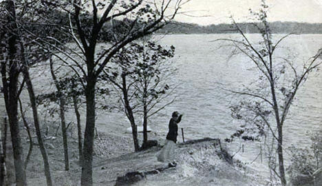 View of Chisago Lake from Cape Horn Summer Tourists Home, Lindstrom, 1915