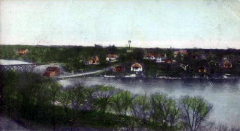 Birds eye view, Lindstrom Minnesota, 1907