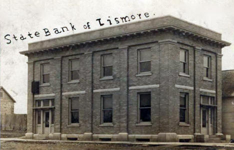 State Bank of Lismore, Lismore Minnesota, 1910's