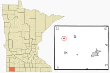 Location of Lismore, Minnesota