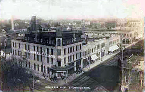Birds Eye View, Litchfield Minnesota, 1914
