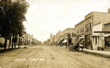 Sibley Avenue, Litchfield Minnesota, 1909