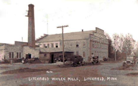 Litchfield Woolen Mills, Litchfield Minnesota, 1920's