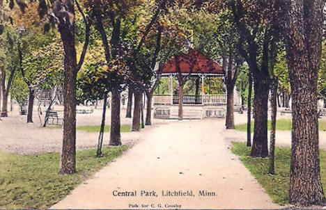 Central Park, Litchfield Minnesota, 1909