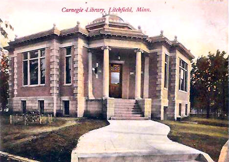 Carnegie Library, Litchfield Minnesota, 1910's
