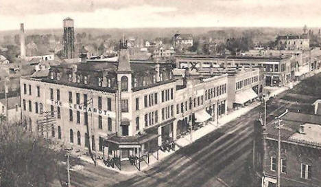 Birds Eye View, Litchfield Minnesota, 1907