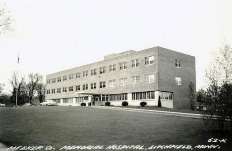 Meeker County Memorial Hospital, Litchfield Minnesota, 1961