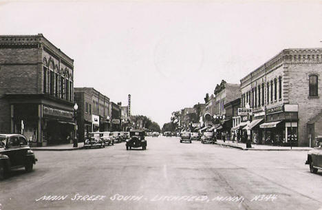 Main Street South, Litchfield Minnesota, 1953
