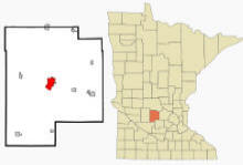Location of Litchfield, Minnesota