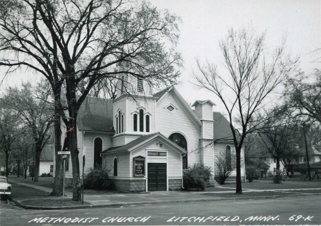 Methodist Church, Litchfield Minnesota, 1950's