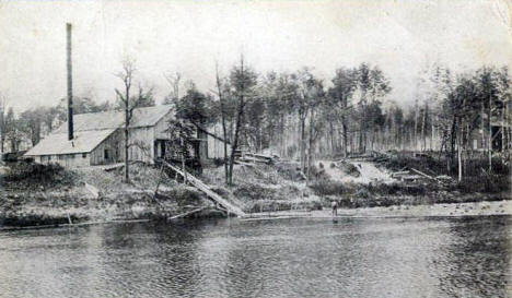 Saw Mill on Littlefork River at Littlefork Minnesota, 1920's?
