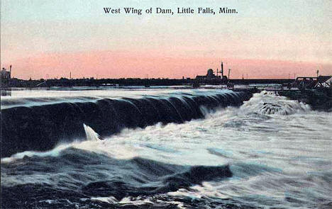 West wing of dam at Little Falls Minnesota, 1908