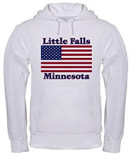 Little Falls US Flag Hooded Sweatshirt