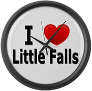 I Love Little Falls Large Wall Clock