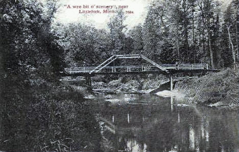 Bridge over river, Littlefork Minnesota, 1910's
