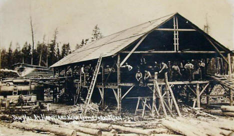 Sawmill at Happyland near Littlefork Minnesota, 1910's