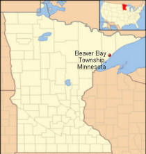 Location of Beaver Bay Township and Illgen City Minnesota