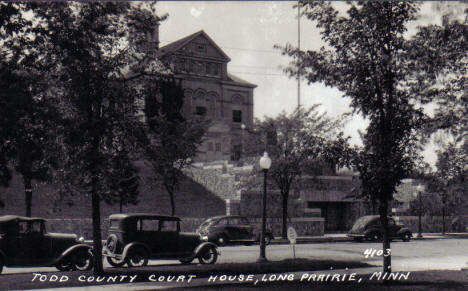 Todd County Courthouse, Long Prairie Minnesota, 1920's?