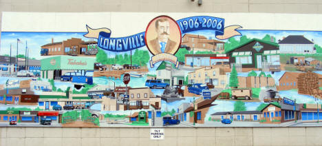 Mural on the side of the Docksider Bar, Longville Minnesota, 2009