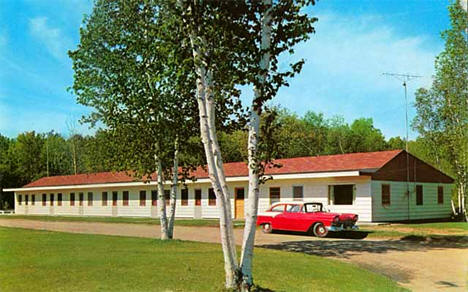 Lake Region Motel, Longville Minnesota, 1958