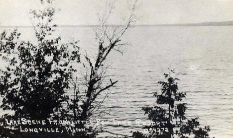 Lake scene from Little Boy Lake Resort, Longville Minnesota, 1940's
