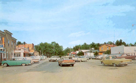 Downtown Longville in the early 1960's