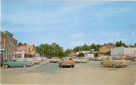 Downtown Longville Minnesota in the early 1960's