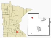 Location of Lonsdale Minnesota