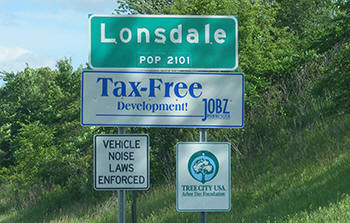 Londale Minnesota Population Sign