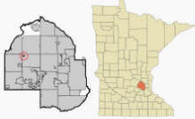 Location of Loretto Minnesota
