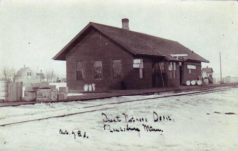 Great Northern Depot, Louisburg Minnesota, 1910