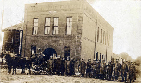 Fire Department, Lowry Minnesota, 1908