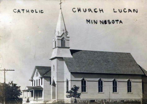 Catholic Church, Lucan Minnesota, 1920's?