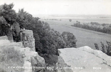 View from Blue Mounds east of Luverne Minnesota, 1950's